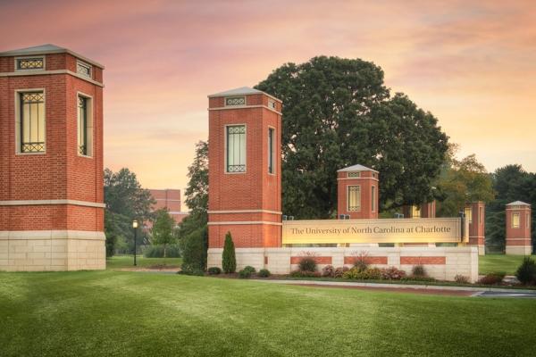 UNC Charlotte campus entrance