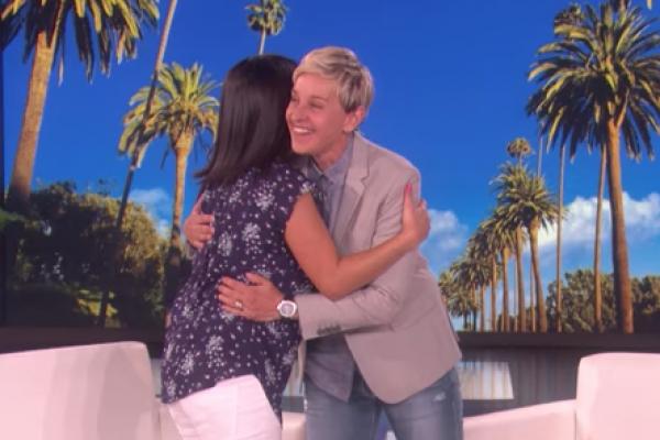 Emily Francis and Ellen DeGeneres