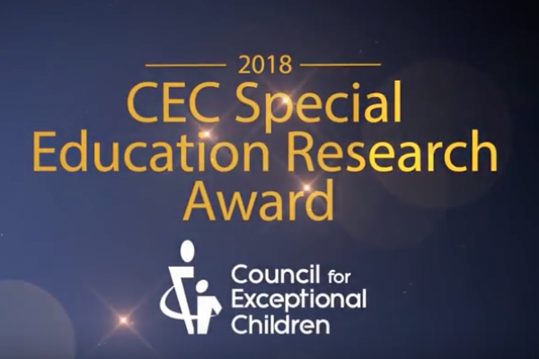 2018 CEC Special Education Research Award